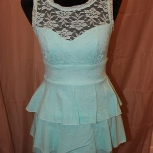 Tiffany Blue and Lace Dress